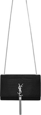 Buy: Medium Kate Croc Tassel Crossbody Bag