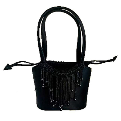 Buy: Black Beaded Evening Bag