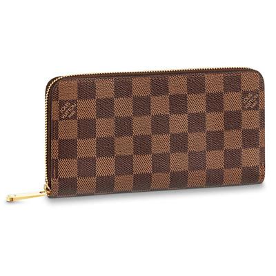 Buy: Brown Check Zippy Wallet