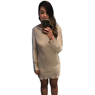 Buy: BEC & BRIDGE Ivory Mini Dress with Low Back Size 10