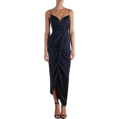 Buy: N Sueded Silk Plunge Long Dress Size 4 BNWT