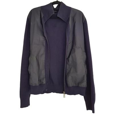 Buy: Navy Knit & Polyester Bomber Jacket Size 10-14
