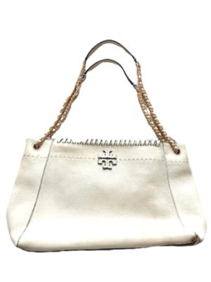 Buy: Shoulder White Bag w/ Gold Chain