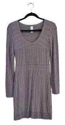 Buy: Grey striped Tshirt Dress Size 10-12