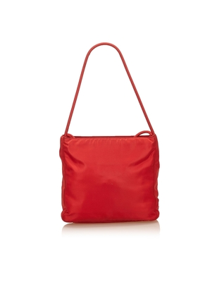 Buy: Hot Red Tessuto nylon Saffiano tote bag