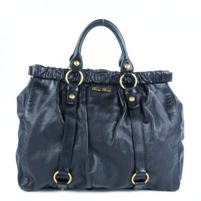 Buy: Classic Vitello blue soft-leather tote bag