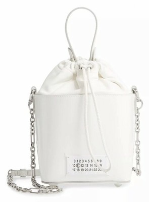 Buy: Bucket 5ac Patent WhiteSuede Leather Shoulder Bag