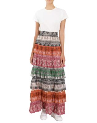 Buy: Amari Tiered maxi skirt Size 10