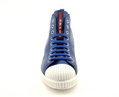Buy: Blue Donna Nappa Sneakers