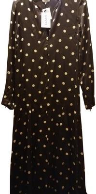Buy: Brown Cream 36 Cameron Polka Dots Flared Skirt