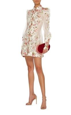 Buy: ZIMMERMANN Radiate Applique Shirt Cocktail Dress