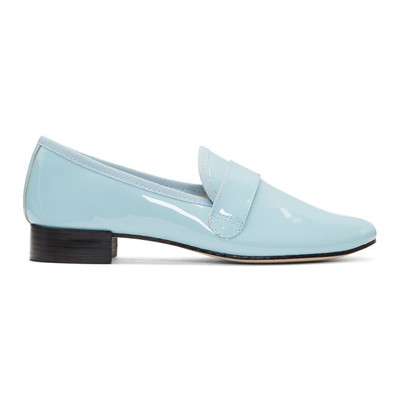 Buy: Light blue patent leather Loafers Size 9