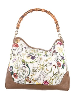 Buy:  Floral Bamboo Canvas Diana Satchel