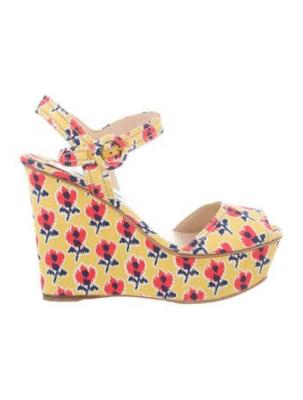 Buy: Floral Platform Sandals Size 8