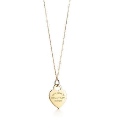 Buy: 18k Gold Medium Heart Tag Pendant Necklace