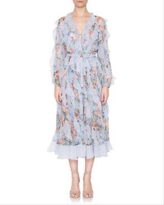 Buy: Blue Print Waterfall Detail Night Out Dress