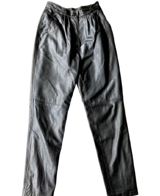 Buy: 80s designer high-waist leather pants Size 6-8