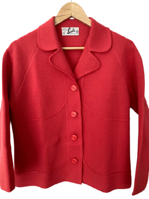 Buy: 60s pure wool coral suit Size 10