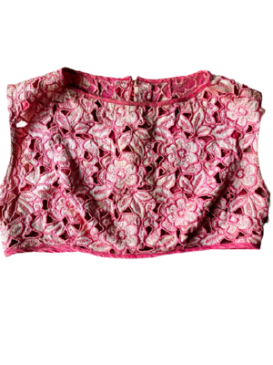 Rent: 60s guipure lace crop top Size 8