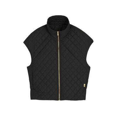 Buy: Capped-Sleeve Quilted Vest Size 10