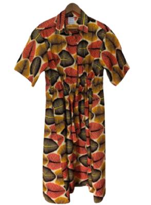 Buy: drawstring midi dress in Broadleaf Size 10