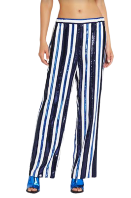 Buy: The Jet set blue white stripes pants Size 8