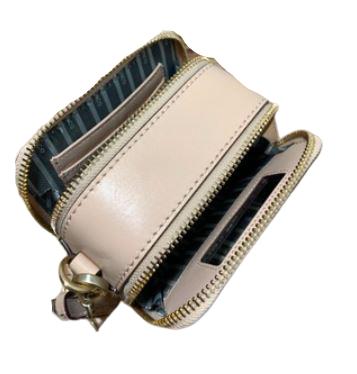 Buy: Flesh Pink Leather clutch/shoulder bag