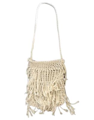 Buy: Cream Macrame Bag
