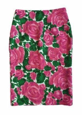 Rent: J'aime Pink Floral Pencil Skirt Size 8-10