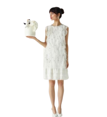Buy: Flluer feather shift dress Size 6