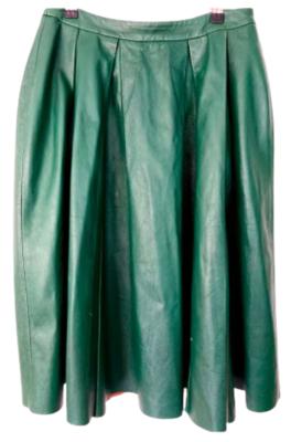 Rent: Leather midi skirt Size 10-12