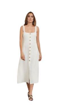 Buy: Ivory button up dress || turtle shell buttons Size 6
