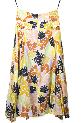 Buy: Silk & Cotton Babelini Printed Skirt Size 8