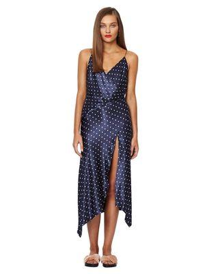 Buy: Bonjour dress Navy polka-dot Satin dress Size 8