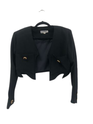 Buy: Cropped black blazer with removable shoulder pads Size 10