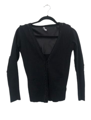Buy: Black cardigan with elbow patches Size 12
