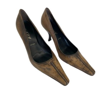 Buy: Brown Leather Heels Size 8.5