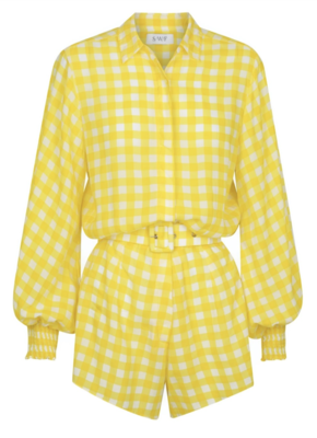 Buy: Yellow Checkered Playsuit BNWT Size 8