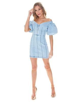 Rent: Mini denim dress BNWT Size 6