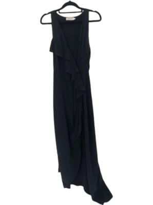 Buy: Black maxi wrap dress Size 8