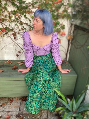 Buy: Exquisite 70s quilted maxi skirt Size 10