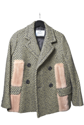 Buy: Coat with Pink Fur Size 12