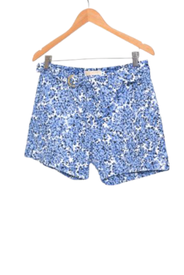 Buy: Blue & white flora shorts with belt Size 4