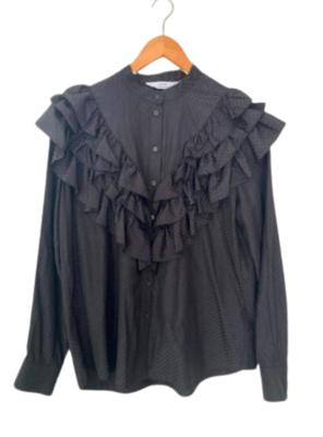 Buy: Ruffled black blouse Size 10-12