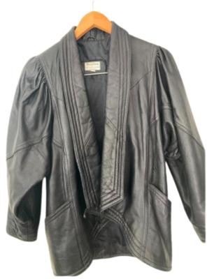 Buy: 80s leather jacket Size 8-12