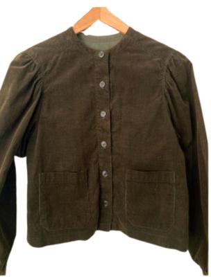 Buy: 80s olive green needle cord jacket Size 6-10
