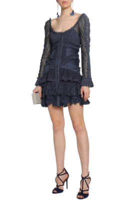 Buy: Ruffled Lace Broderie Anglaise Dress BNWT Size 8