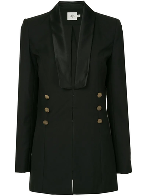 Buy: Black Blazer with Gold Buttons Size 10
