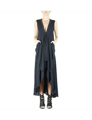 Buy: Sleeveless Dress with Studded Front Detail Size 6