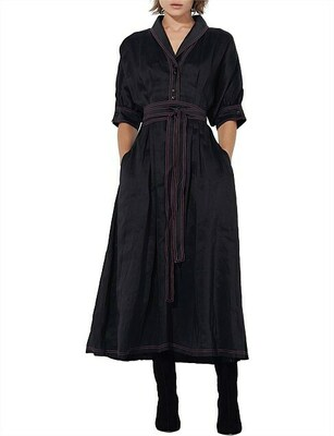 Buy: Contrasted Belted Dress Size 6